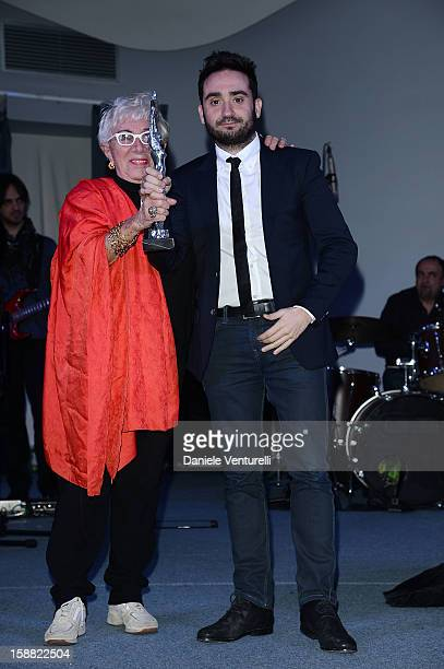 Lina Wertmuller and Juan Antonio Bayona attend Day 5 of the 2012 Capri Hollywood Film Festival on December 30 2012 in Capri Italy