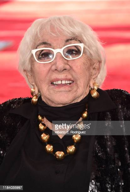Lina Wertmuller attends a ceremony honoring her with the 2679th Star on The Hollywood Walk of Fame on October 28 2019 in Hollywood California