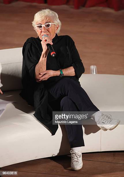 Lina Wertmuller attends a Talk Show at Cinema Odeon during Reggio Calabria FilmFest on February 3 2010 in Reggio Calabria Italy
