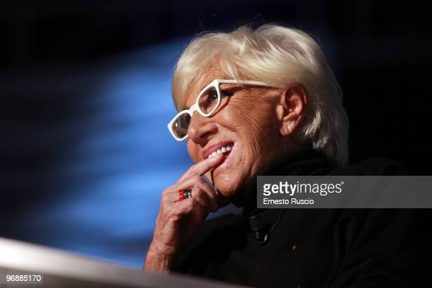 Lina Wertmuller attends the 'Barbareschi Sciok' tv show at LA7 studios on February 19 2010 in Rome Italy