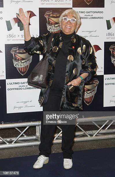 Lina Wertmuller attends the 'L'Ultimo Gattopardo' premiere at Auditorium Della Conciliazione on January 18 2011 in Rome Italy