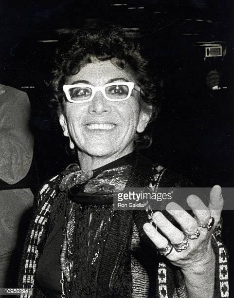 Lina Wertmuller during Academy Theater's Party For Foreign Stars March 26 1977 at Academy Theater in Beverly Hills California United States