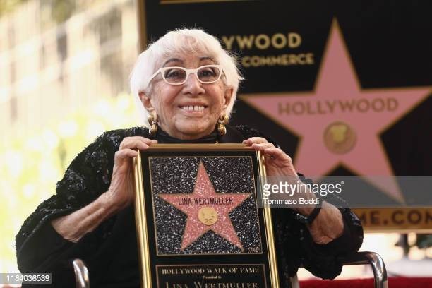 Lina Wertmuller Honored With A Star On The Hollywood Walk Of Fame on October 28 2019 in Hollywood California