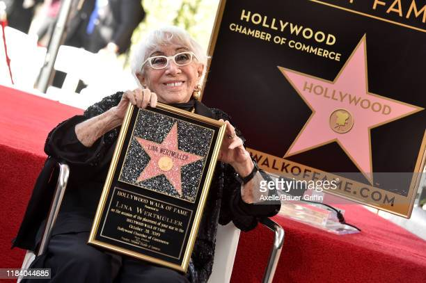 Lina Wertmuller is honored with a Star on the Hollywood Walk of Fame on October 28 2019 in Hollywood California