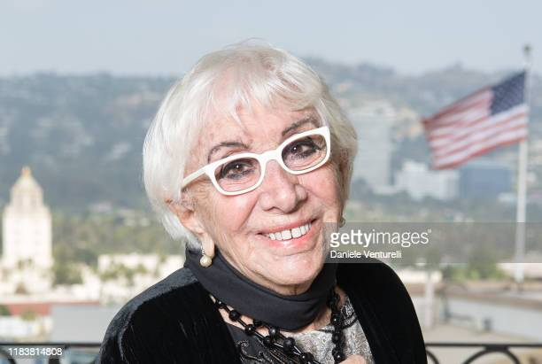 Lina Wertmuller poses for the photographer before the ceremony of awarding the Oscar for his career on October 27 2019 in Los Angeles California