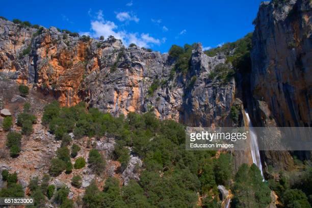 Linarejos waterfall Cerrada del Utrero River Guadalquivir course Sierra de Cazorla Segura and Las Villas Natural Park Jaen province Andalucia Spain