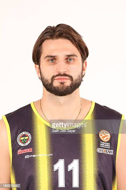 Linas Kleiza of Fenerbahce Ulker during the Fenerbahce Ulker Istanbul 2013/14 Turkish Airlines Euroleague Basketball Media day at Fenerbahce Ulker...
