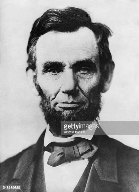 Lincoln Abraham Politician USA *1202180915041865 the 16th President of the United States Portrait undated Published in 'Berliner Morgenpost' Vintage...