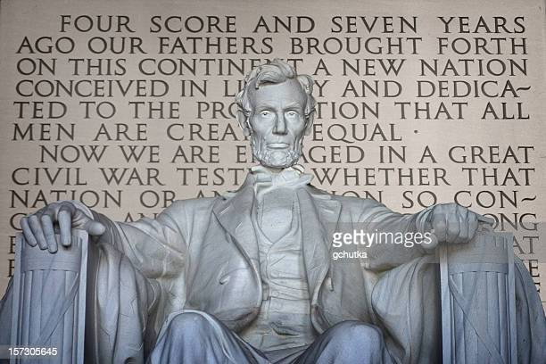 lincoln and gettysburg address - gettysburg address stock photos and pictures