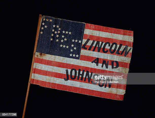 Lincoln and Johnson 1864 Campaign Banner
