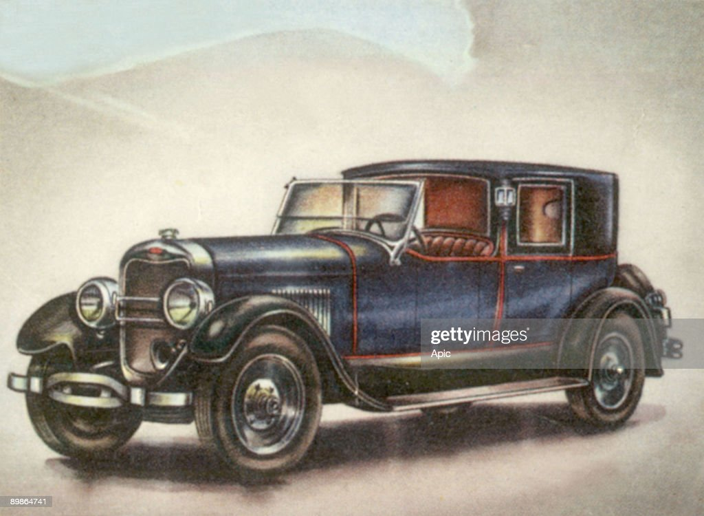 Lincoln Car Usa 1926 Vignette For An Album About History Of Cars