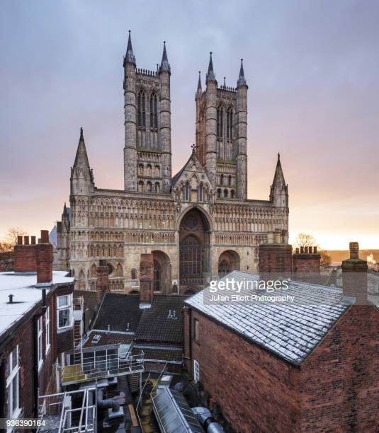 lincoln cathedral in england, uk. - lincolnshire stock pictures, royalty-free photos & images