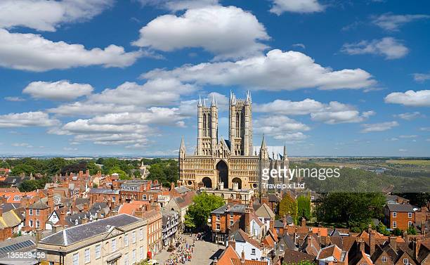 lincoln cathedral, lincoln, - lincolnshire stock pictures, royalty-free photos & images