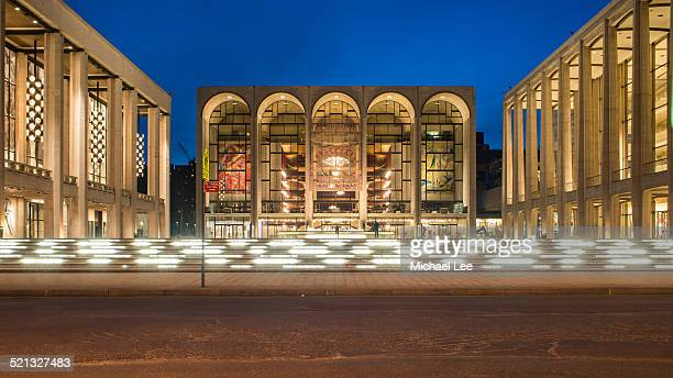 lincoln center at night - the theater lincoln center stock pictures, royalty-free photos & images