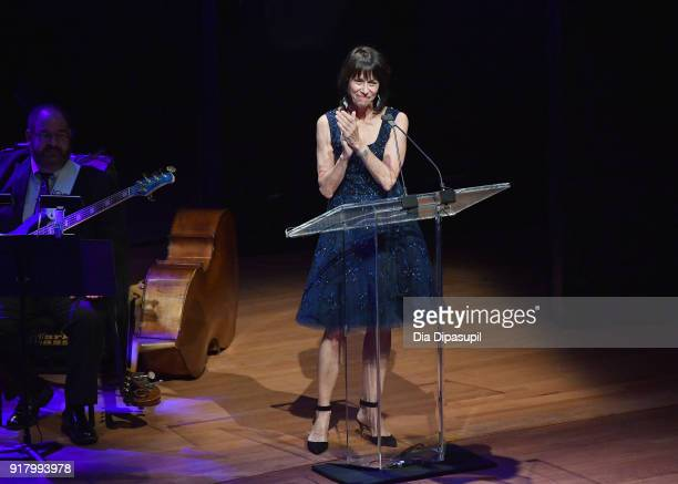 Lincoln Center Chair Katherine Farley speaks onstage at the Winter Gala at Lincoln Center at Alice Tully Hall on February 13 2018 in New York City