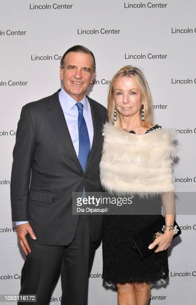 Lincoln Center Distinguished Service Award recipient Robert K Steel and Gillian Steel attend Lincoln Center Fall Gala at Alice Tully Hall on October...