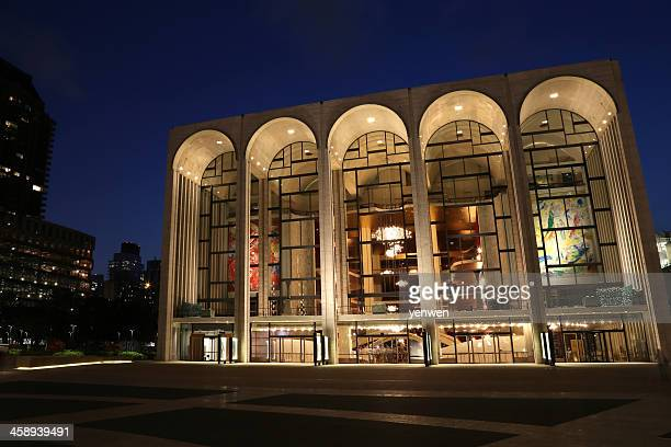 lincoln center for the performing arts at night - the theater lincoln center stock pictures, royalty-free photos & images