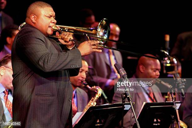 Lincoln Center Jazz Orchestra performing Full Steam Ahead at the Rose Theater on Thursday night February 24 2005Wycliffe Gordon trombone
