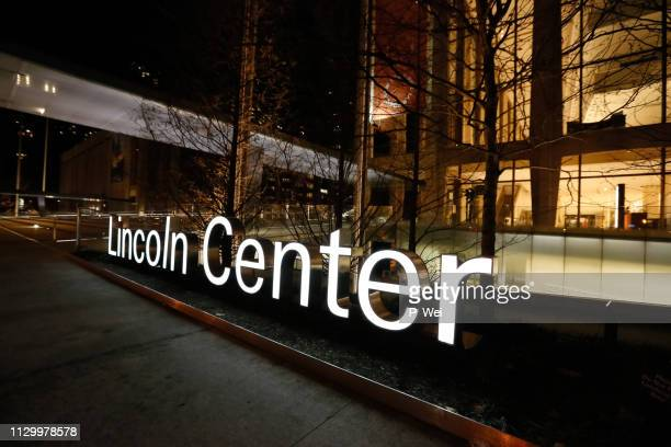 lincoln center sign - performing arts center stock pictures, royalty-free photos & images