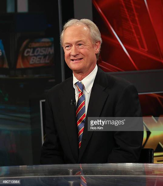 Lincoln Chafee visits FOX Business Network at FOX Studios on September 30 2015 in New York City