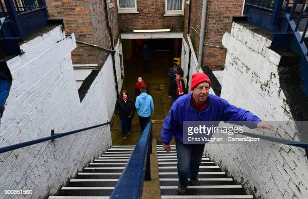 Lincoln City fans arrive at Kenilworth Road prior to the Sky Bet League Two match between Luton Town and Lincoln City at Kenilworth Road on January 1...