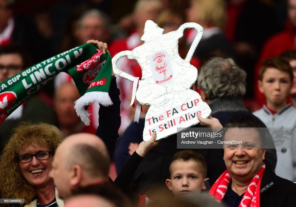 Arsenal v Lincoln City - The Emirates FA Cup Quarter-Final : News Photo