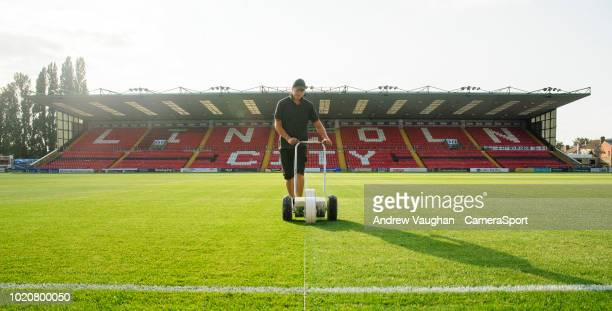 A general view of Sincil Bank home of Lincoln City prior to the Sky Bet League Two match between Lincoln City and Bury at Sincil Bank Stadium on...