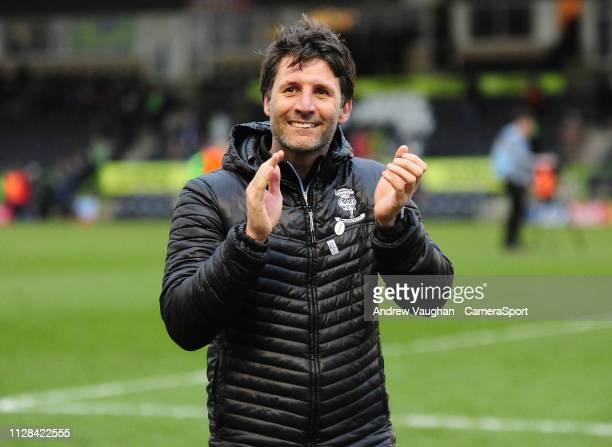 Lincoln City manager Danny Cowley applauds the fans following the Sky Bet League Two match between Forest Green Rovers and Lincoln City at The New...
