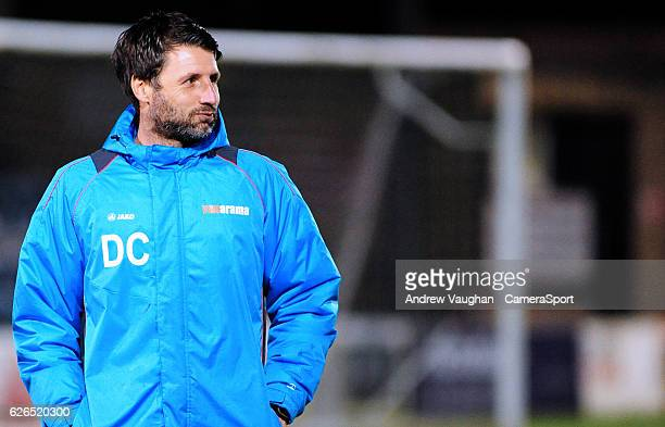Lincoln City manager Danny Cowley during the prematch warmup during the Vanarama National League match between Lincoln City and Wrexham at Sincil...