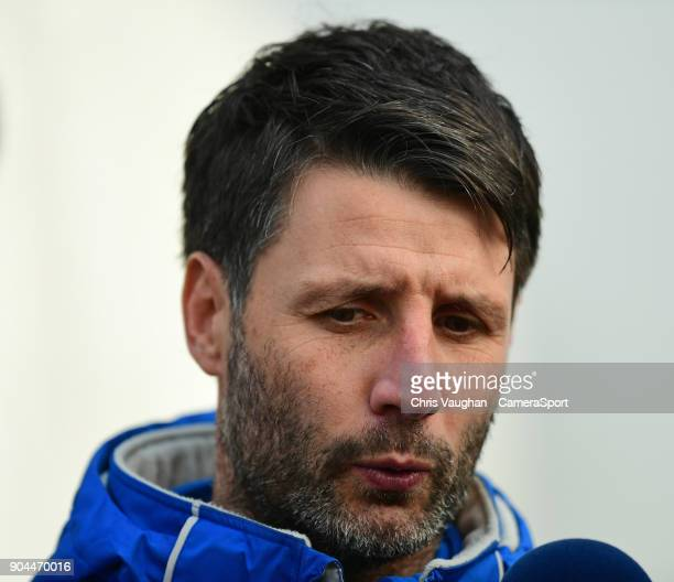 Lincoln City manager Danny Cowley during the prematch warmup prior to the Sky Bet League Two match between Lincoln City and Notts County at Sincil...