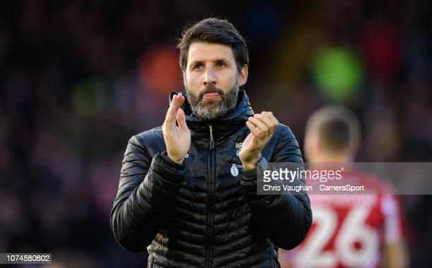 Lincoln City manager Danny Cowley during the Sky Bet League Two match between Lincoln City and Newport County at Sincil Bank Stadium on December 22...