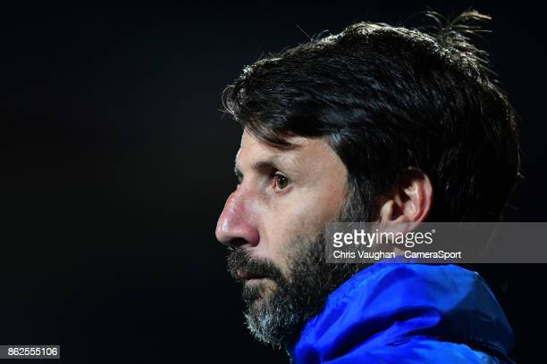 Lincoln City manager Danny Cowley during the Sky Bet League Two match between Swindon Town and Lincoln City at County Ground on October 17 2017 in...