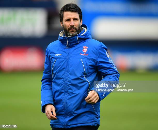 Lincoln City manager Danny Cowley during the Sky Bet League Two match between Luton Town and Lincoln City at Kenilworth Road on January 1 2018 in...