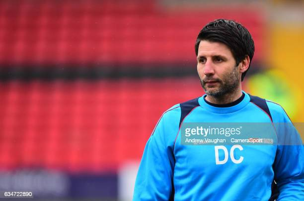 Lincoln City manager Danny Cowley during the Vanarama National League match between Lincoln City and Woking at Sincil Bank Stadium on February 11...