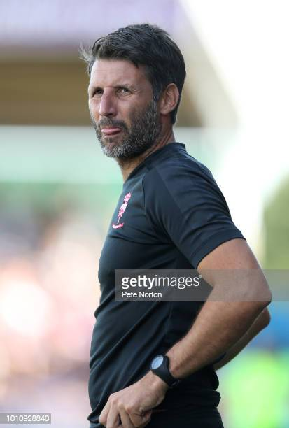 Lincoln City manager Danny Cowley looks on during the Sky Bet League Two match between Northampton Town and Lincoln City at PTS Academy Stadium on...