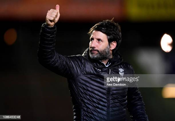 Lincoln City manager Danny Cowley looks on during the Sky Bet League Two match between Yeovil Town and Lincoln City at Huish Park on January 22 2019...