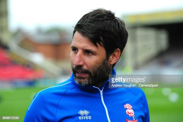 Lincoln City manager Danny Cowley prior to the Sky Bet League Two match between Lincoln City and Chesterfield at Sincil Bank Stadium on October 7...