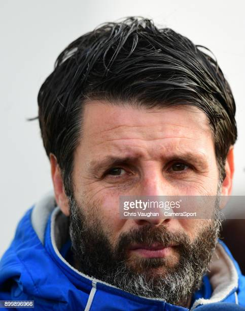 Lincoln City manager Danny Cowley prior to the Sky Bet League Two match between Lincoln City and Forest Green Rovers at Sincil Bank Stadium on...