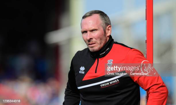 Lincoln City manager Michael Appleton during the Sky Bet League One match between Lincoln City and Ipswich Town at LNER Stadium on September 18, 2021...