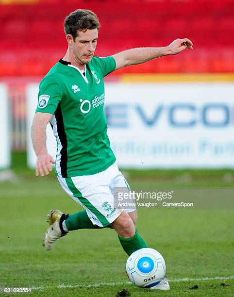 Lincoln City's Adam Marriott during the The Buildbase FA Trophy Second Round match between Gateshead and Lincoln City at Gateshead International...