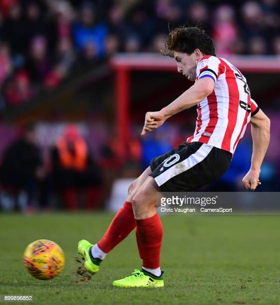 Lincoln City's Alex Woodyard during the Sky Bet League Two match between Lincoln City and Forest Green Rovers at Sincil Bank Stadium on December 30...