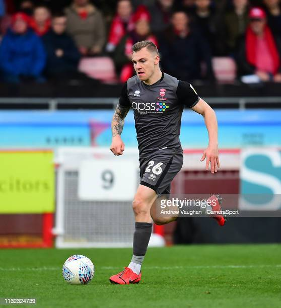 Lincoln City's Harry Anderson during the Sky Bet League Two match between Crawley Town and Lincoln City at Checkatradecom Stadium on March 23 2019 in...
