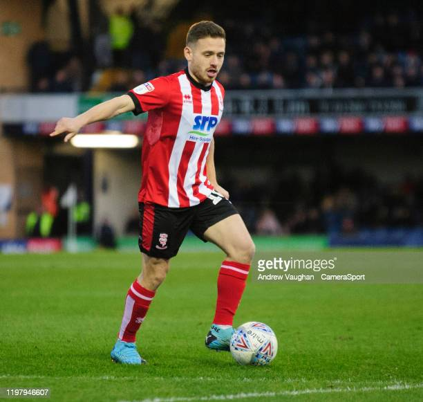 Lincoln City's Jack Payne during the Sky Bet League One match between Southend United and Lincoln City at Roots Hall on February 1 2020 in Southend...