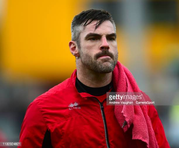 Lincoln City's Matt Gilks during the prematch warmup prior to the Sky Bet League Two match between Crawley Town and Lincoln City at Checkatradecom...