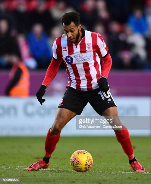 Lincoln City's Matt Green during the Sky Bet League Two match between Lincoln City and Forest Green Rovers at Sincil Bank Stadium on December 30 2017...