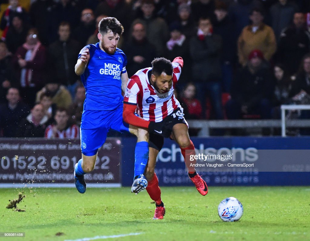 Lincoln City v Peterborough United - Checkatrade Trophy