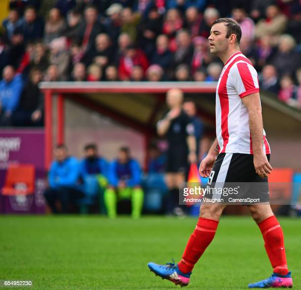 Lincoln City's Matt Rhead during the Buildbase FA Trophy Semi Final Second Leg match between Lincoln City and York City at Sincil Bank Stadium on...