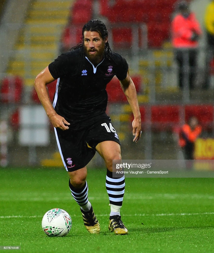 Lincoln City's Michael Bostwick during the Carabao Cup First Round match between Rotherham United and Lincoln City at Millmoor Ground on August 8, 2017 in Rotherham, England.