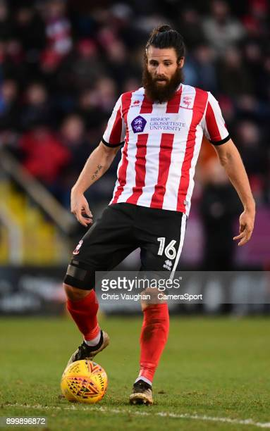 Lincoln City's Michael Bostwick during the Sky Bet League Two match between Lincoln City and Forest Green Rovers at Sincil Bank Stadium on December...