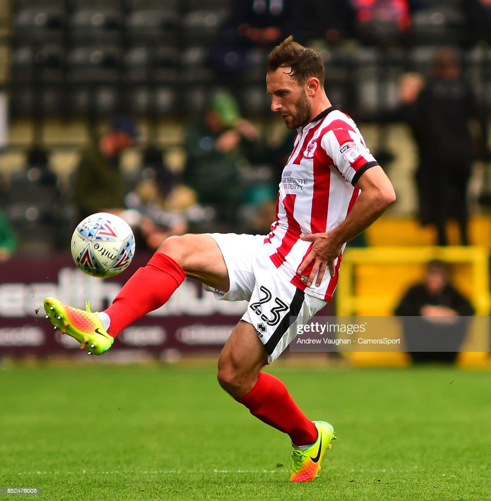 Lincoln City's Neal Eardley during the Sky Bet League Two match between Notts County and Lincoln City at Meadow Lane on September 23, 2017 in Nottingham, England.